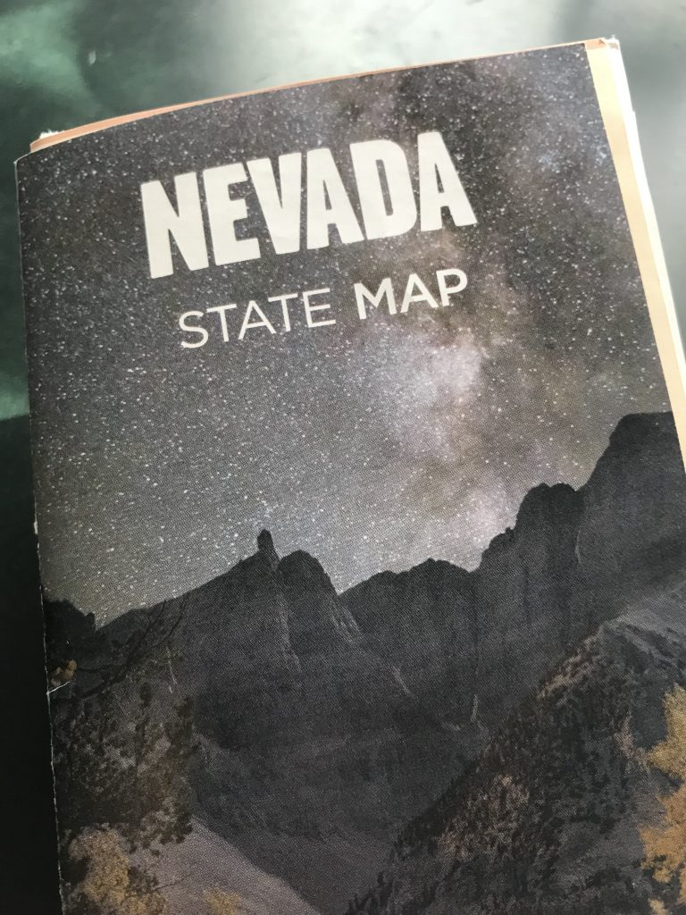 Nevada Paper Map